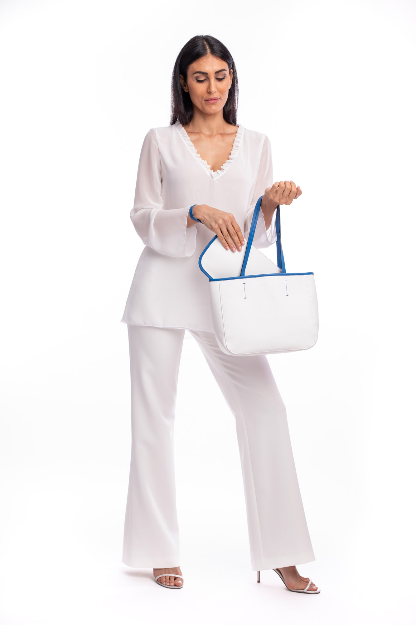 Shopper Stondata Bianca